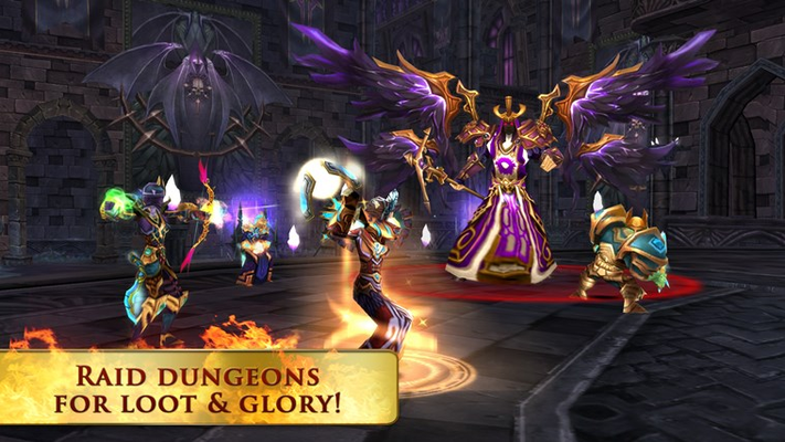 Raid dungeons for loot & glory!