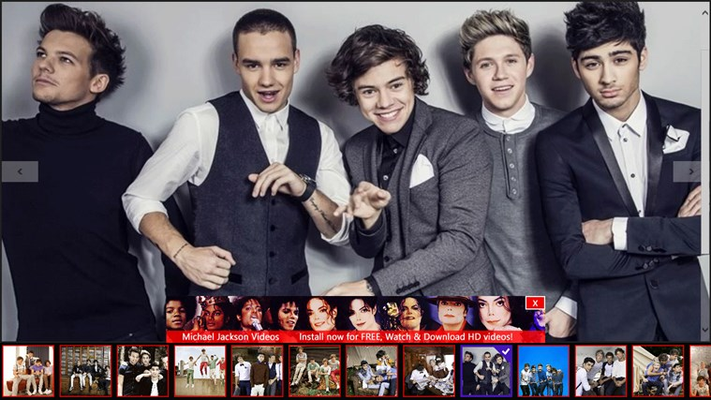Videos of One Direction for Windows 8