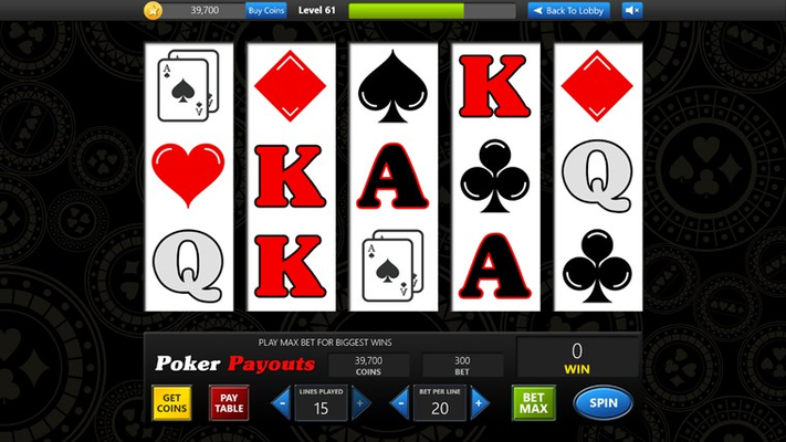 Get the old school Vegas feel with Poker Payouts slots!