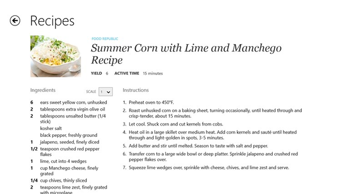 Recipe, Menu & Cooking Planner for Windows 8