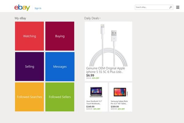 eBay for Windows 8