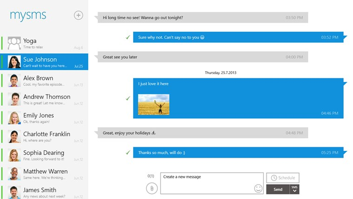 Have access to all messages on your Windows tablet or PC.