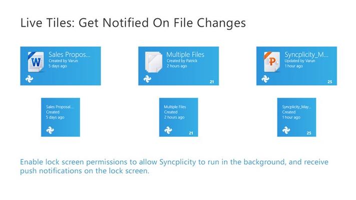 Get update notifications via live tiles