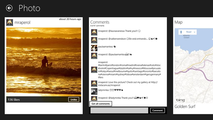 Instametrogram for Windows 8