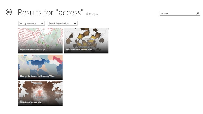 ArcGIS for Windows 8