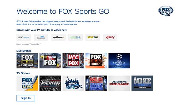 Pick your TV provider