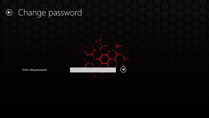 Change password step 1