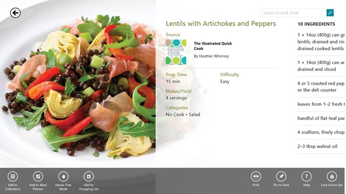 Hundreds of thousands of recipes with beautiful images, step-by-step instructions and an integrated Shopping List.