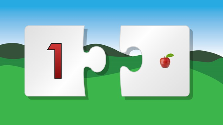 Puzzle match numbers and learn to counta