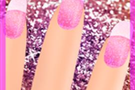 glitter nail game