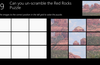 Rearrange the tiles on the right into the correct positions on the left to see a beautiful image of Cathedral Rock in Sedona Arizona.