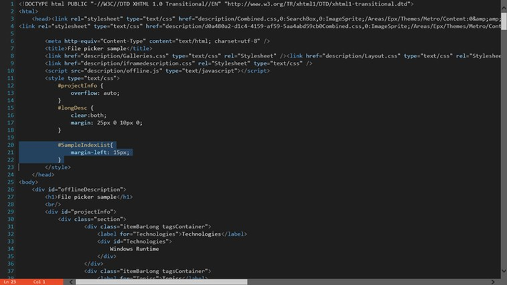 Code Writer for Windows 8