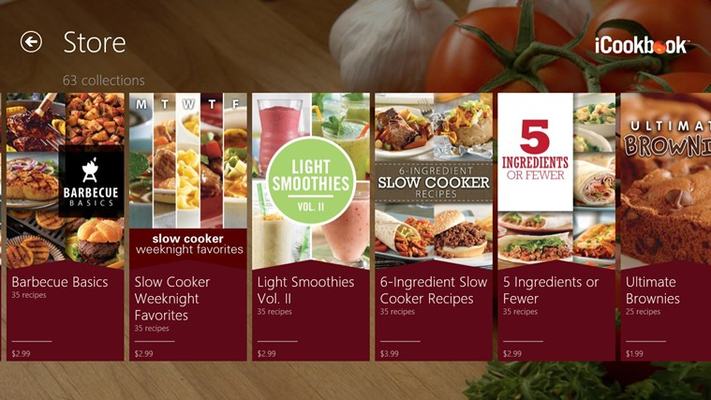 Customize and expand your cookbook with themed, seasonal and holiday recipe collections available for purchase in our new in-app store.