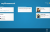 If you joined a Teachers.io class the home page also shows announcements and your teachers.