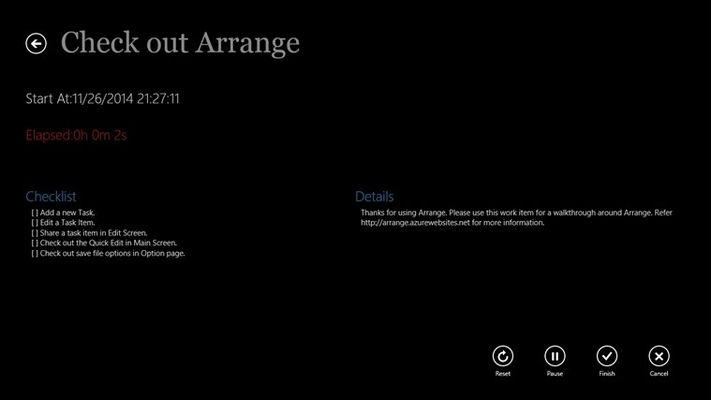 Arrange for Windows 8