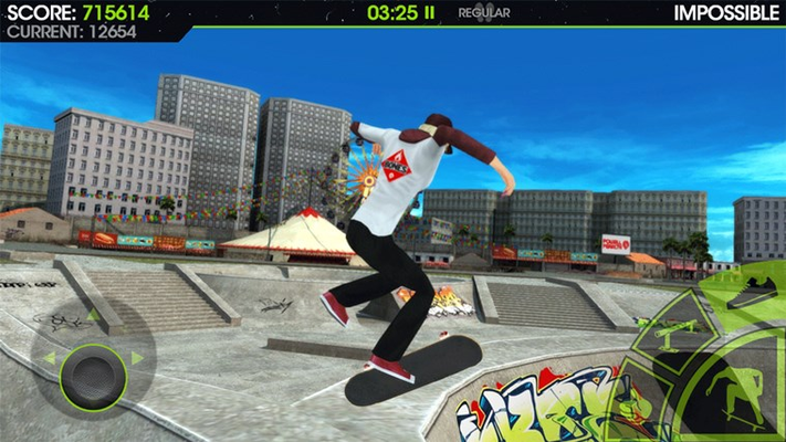 Massive skateboard locations to ride including a trailer park, army base, shopping mall, ski resort, campus, funfair beach and a big open city.