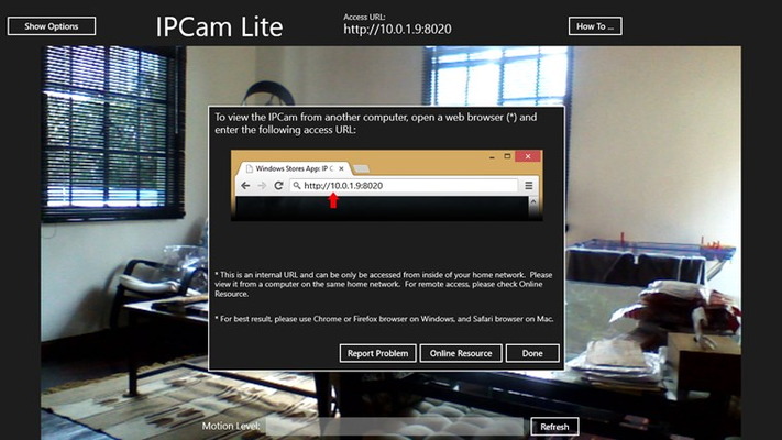 IPCam Lite for Windows 8