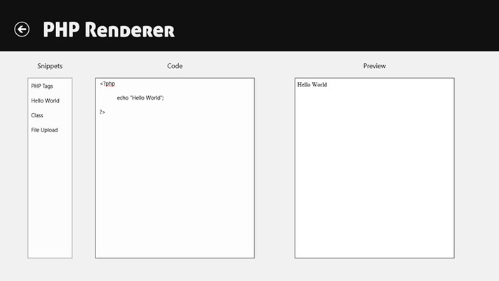 PHP Renderer View