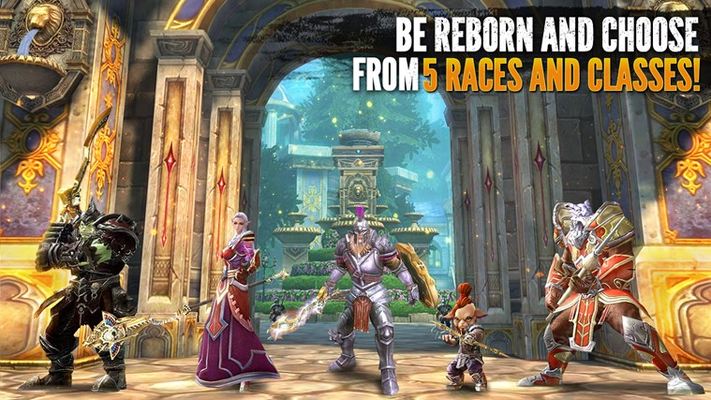 BE REBORN AND CHOOSE  FROM 5 RACES AND CLASSES!