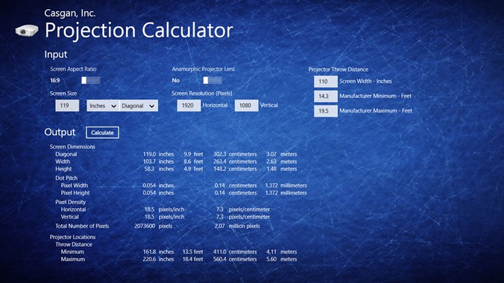 Projection Calculator For Windows 8 And 8 1