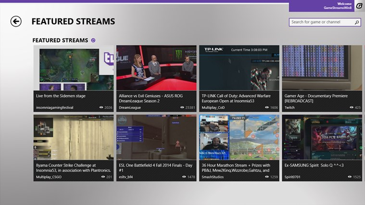 Most popular streams
