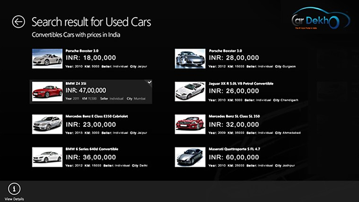 Find used cars in your city using our used car section.