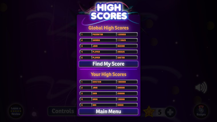 Play today and get your score on the global leaderboards!