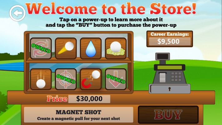 Collect all 8 powerups in the store.