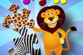 Children's Animal Jigsaw Puzzles - educational young kids game teaches shapes and matching suitable for toddler and pre school boys and girls 3 +