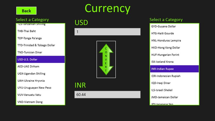 ** LIVE CURRENCY CONVERSION **