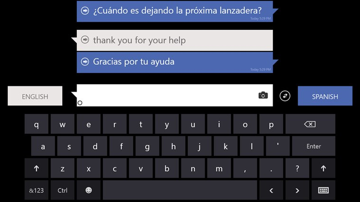 Text translation – Type and translate text into more than 40 languages.