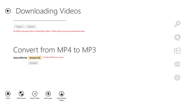 Download videos and convert to MP3...