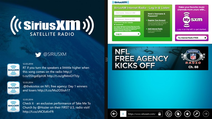SiriusXM player
