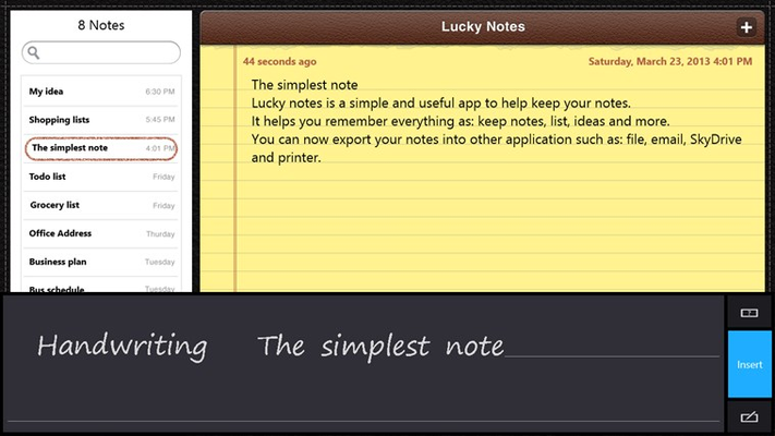 Lucky Notes for Windows 8