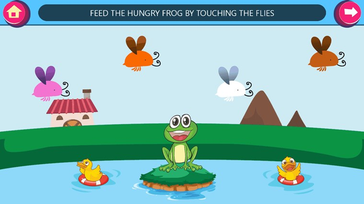 Feed hungry frog