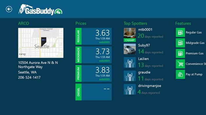 GasBuddy for Windows 8