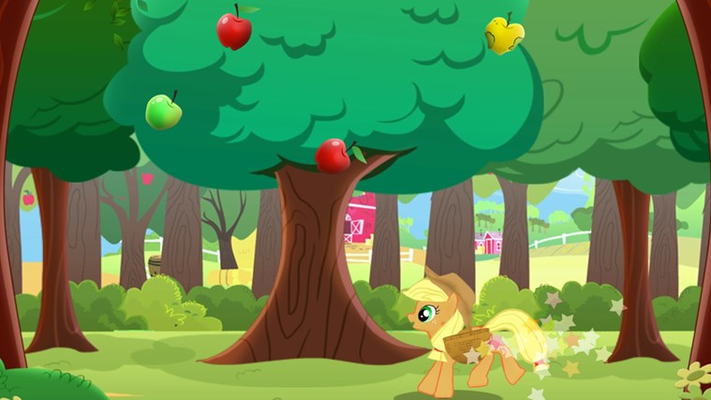 Help the ponies collect apples