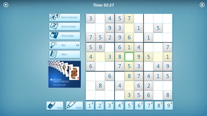 Classic Sudoku with a clean & simple design
