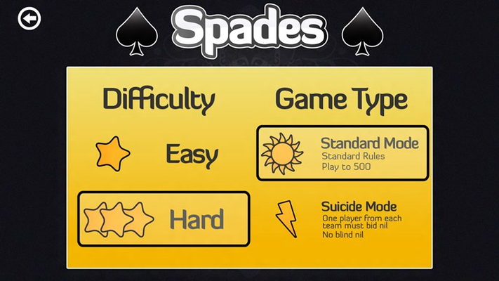 Choose your difficulty and game type!