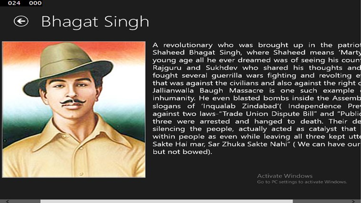 information of bhagat singh in hindi Bhagat singh (punjabi pronunciation: [pə̀ɡət̪ sɪ́ŋɡ] ( listen) 1907[a] – 23 march 1931) was a charismatic indian socialist revolutionary whose two acts of dramatic violence against the british in india and execution at age 23 made him a folk hero of the indian independence movement.