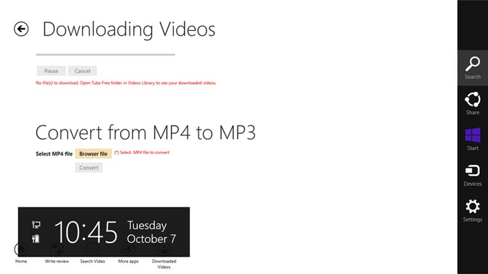 Download MP3/ MP4 videos...