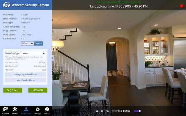 Webcam Security Camera for Windows 8