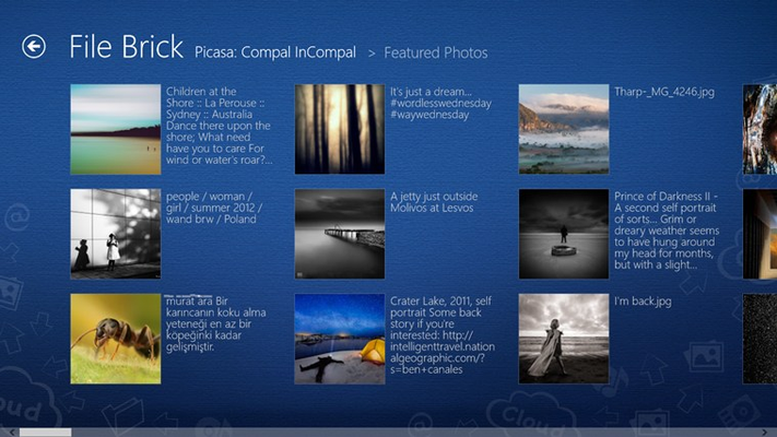 Thumbnail View : Quick overview of all your contents.