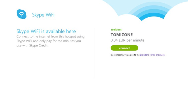 Skype WiFi for Windows 8