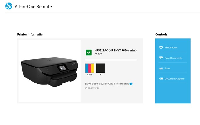 HP All-in-One Printer Remote for Windows 8