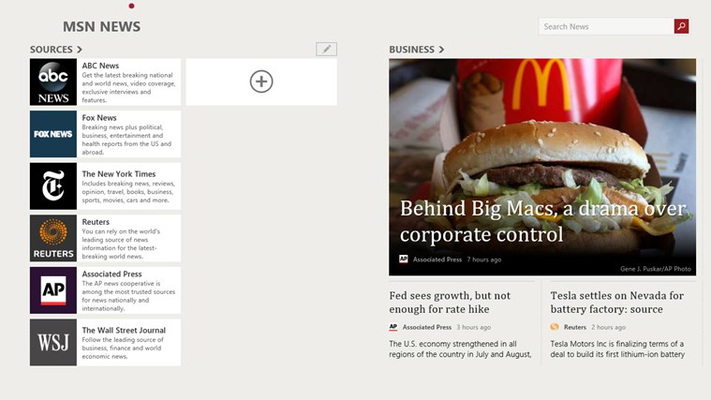 Personalize News app with sources that matter to you.