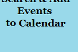 Search and add events to calendar