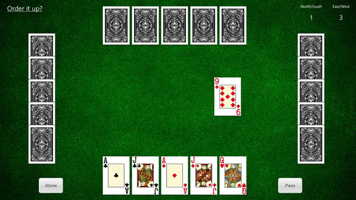 South has the option of ordering up the 9 of Diamonds.  Probably a good idea at this point?