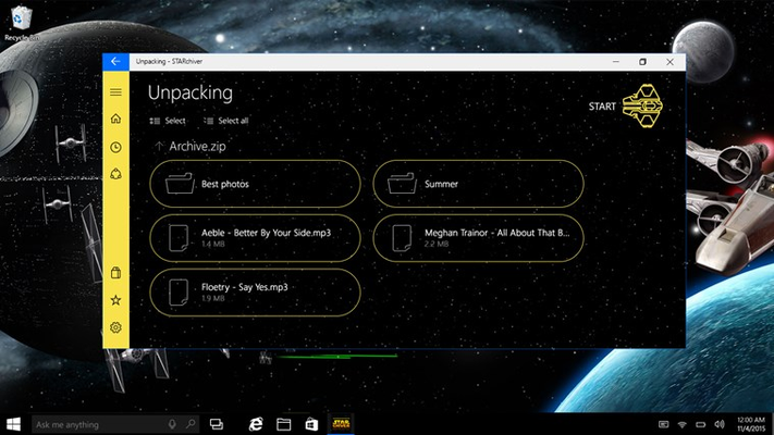 STARchiver ZIP RAR for Windows 8