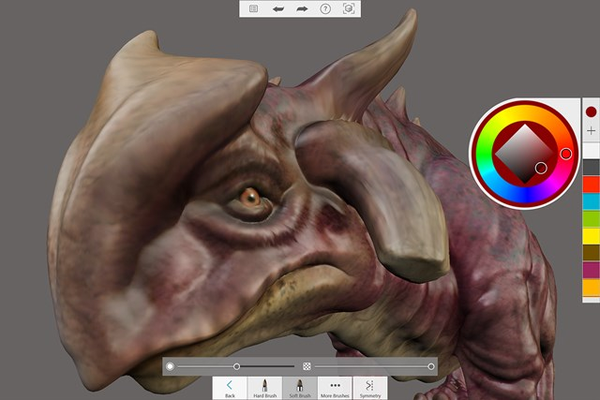 3D texturing and painting lets you apply your photos directly onto the skin of your sculpture. Adjust the lights, background, and filter effects to generate amazing scenes.